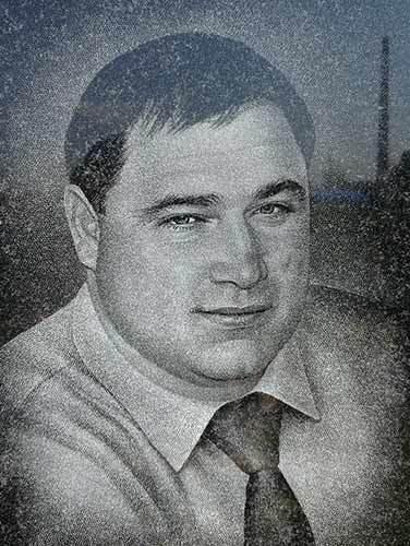 Очистка портрета от пятен Козлову