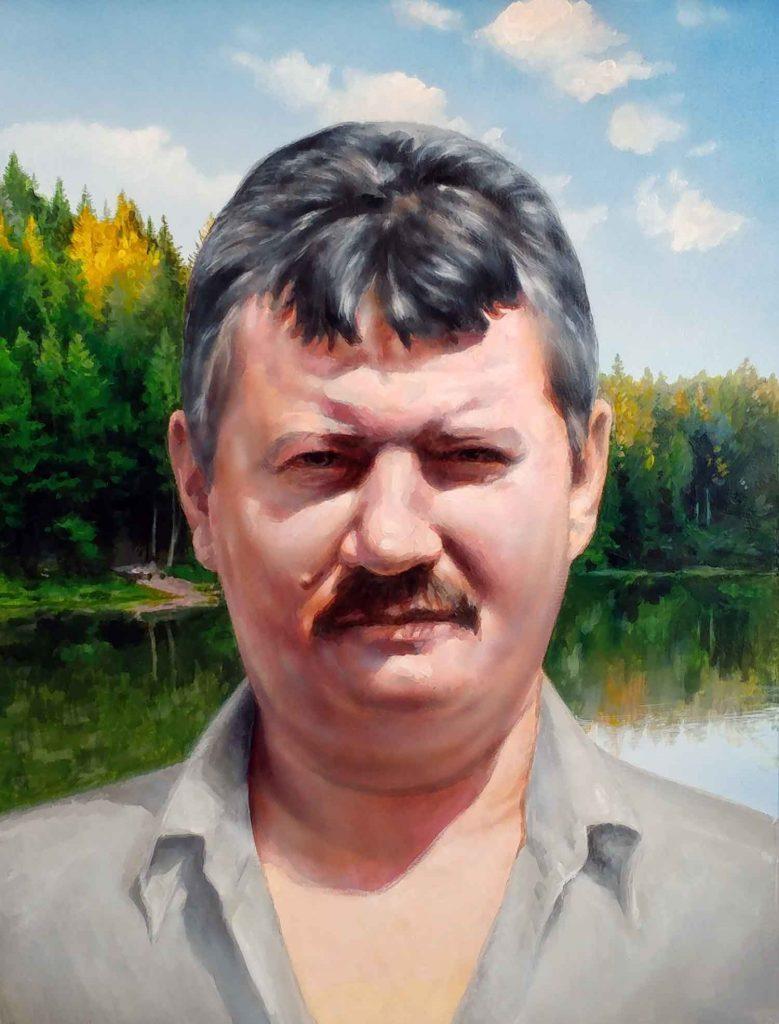 Цветной портрет Теплякову А. В.